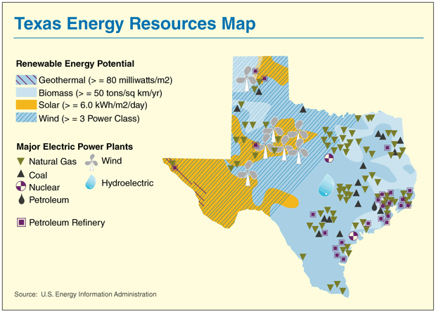 Map Of Texas Natural Resources.Maps The North Central Plains